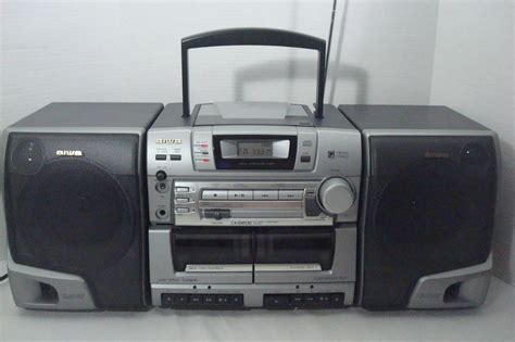 aiwa portable cassette player aiwa portable stereo system ca dw530 cd dual cassette