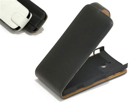 Flip Cover Sony Xperia Lt22i classic leather flip voor sony xperia p lt22i