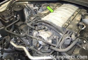 bmw e60 5 series n62 8 cylinder intake manifold replacement pelican parts technical article