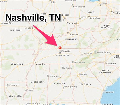 map of nashville where is nashville tennessee on the map wisconsin map