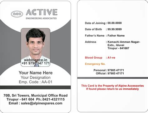 Template Galleries Employee Id Card Templatres New 2014082c Company Id Card Template