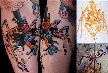 tattoo new school sea off the map tattoo tattoos in progress sea spider