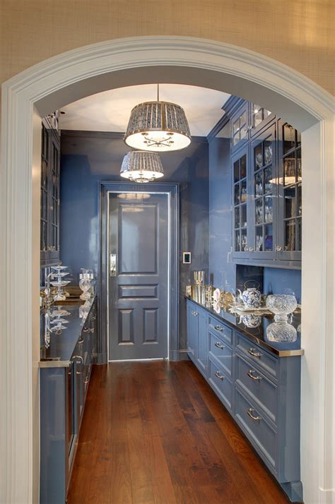what is a butler s pantry traditional shingle house with blue and white interiors