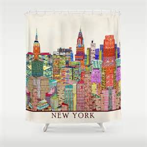 New Shower Curtains New York City Skyline Shower Curtain By Bri Buckley Society6