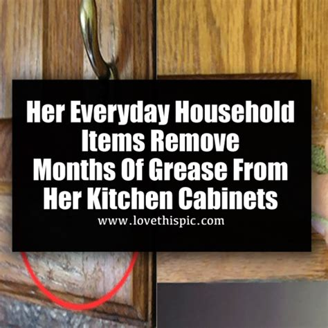 remove grease from kitchen cabinets her everyday household items remove months of grease from