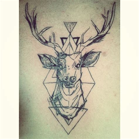 tattoo deer geometric on instagram inside geometric deer