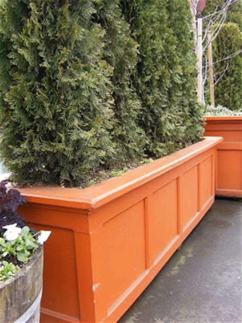 This House Privacy Planter by Feathering Nest Home Made Planter Boxes