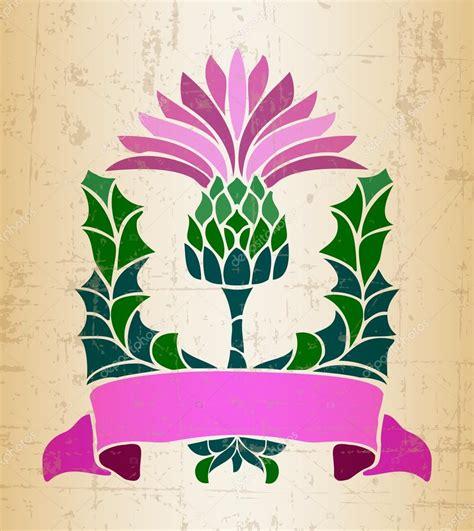 simbolo fiore simbolo fiore di cardo vettoriali stock