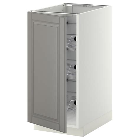 what if ikea runs out of cabinets during this year s metod base cabinet with wire baskets white bodbyn grey
