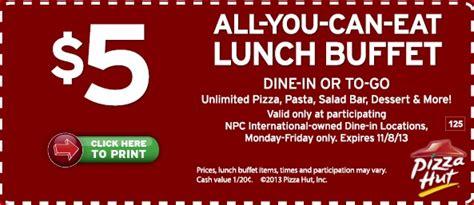 pizza hut 5 ayce buffet printable coupon