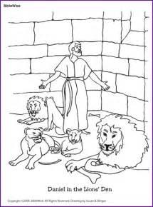 Coloring Daniel In The Lions Den  Kids Korner BibleWise sketch template