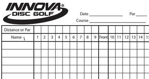 web golf score cards template innova scorecard innova disc golf