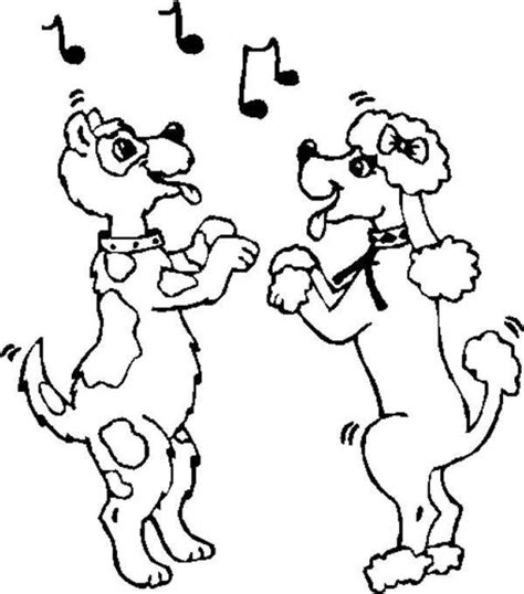 coloring pages dancing animals line dancing pictures cliparts co