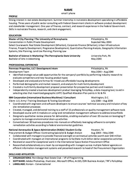 S Op Resume by Nasa Student Co Op Resume Sle Http Resumesdesign