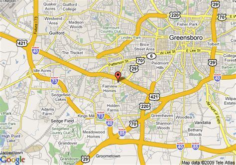 greensboro carolina map map of carpet inn greensboro greensboro