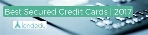 Best Credit Card Gift Card - best secured credit cards 2017 lendedu