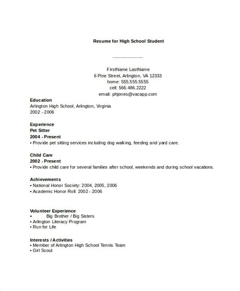 44 Sle Resume Templates Free Premium Templates Resume Templates Free For High School Students