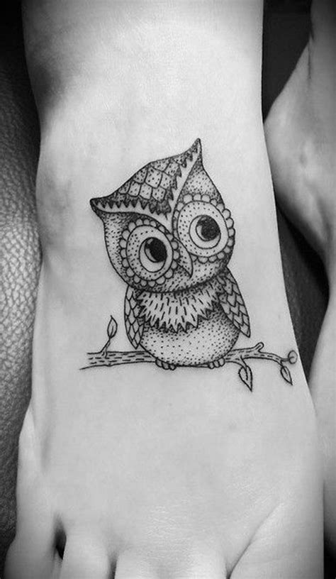 girl owl tattoo designs owl design on foot foot tattoos infected