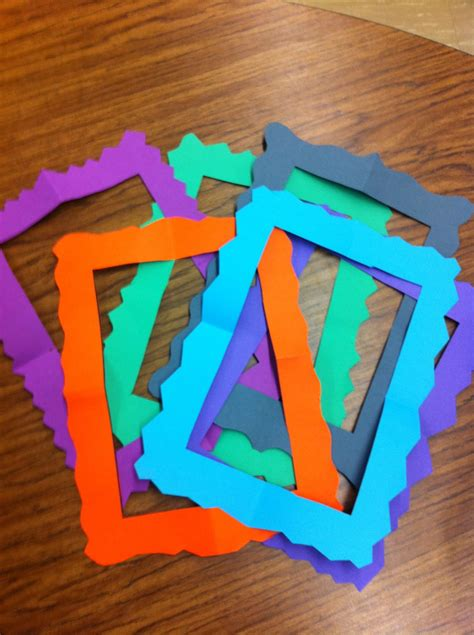 How To Make Paper Picture Frames - look what we made create teach