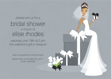 shower invitation templates free bridal shower invitations kitchen bridal shower