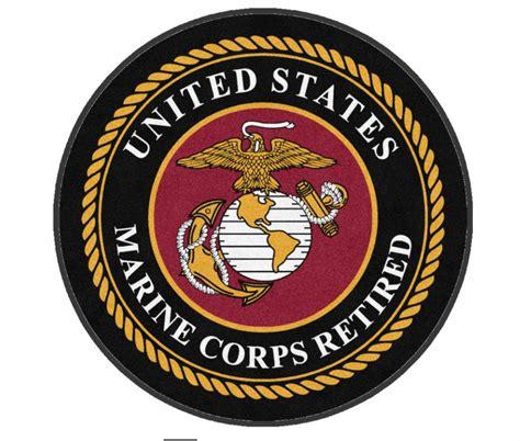 U S Marine Corps u s marine corps retired logo rug rug rats