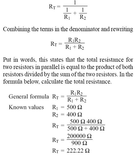 formula for parallel resistors formula for 2 resistors in parallel 28 images resistors in parallel two resistors in