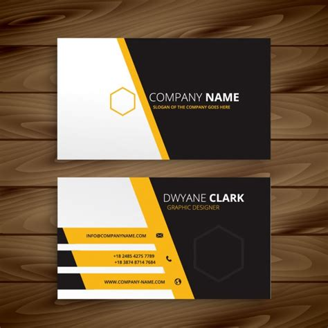 moderns business card template modern business card templateyellow black