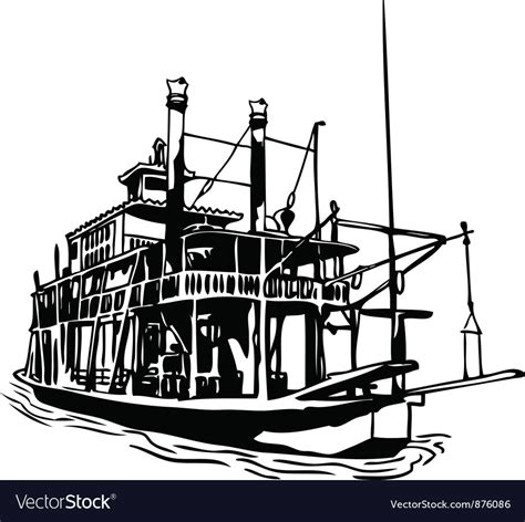 river boat clipart river steamboat royalty free vector image vectorstock