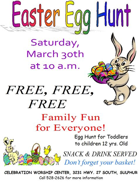 easter egg hunt flyer celebrationworshipcenter