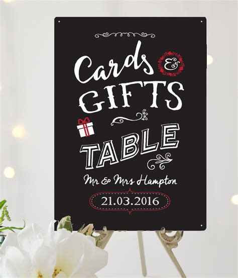 Cards And Gifts Wedding Sign - cards gifts personalised wedding sign
