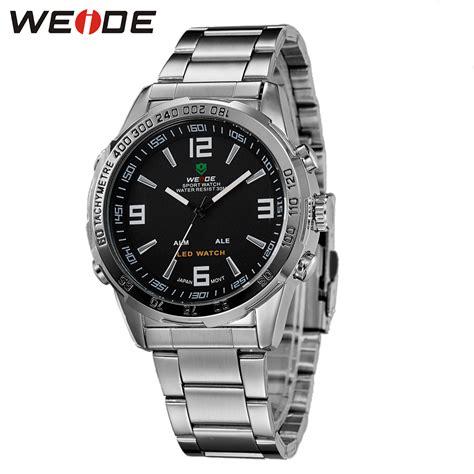 Jam Tangan Silver Sporty weide jam tangan sporty pria wh1009 black silver
