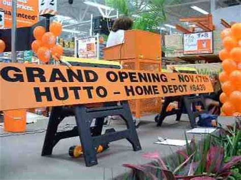 grand opening of the hutto home depot this was followed