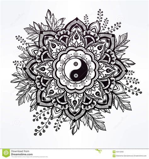 fiore meaning fiore decorato con il simbolo di yang e di yin