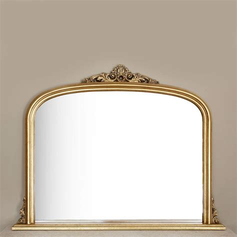 gold decorative mirror gold overmantel mirror by decorative mirrors