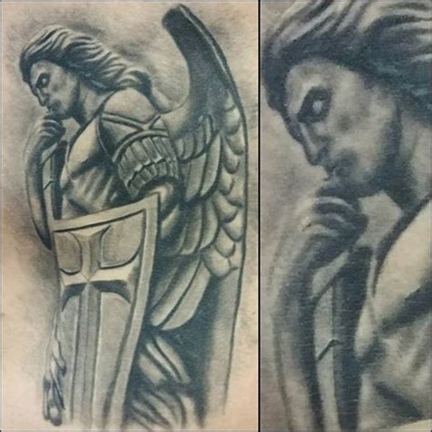tattoo paper at michaels healed st michael the archangel tattoo i did about a year
