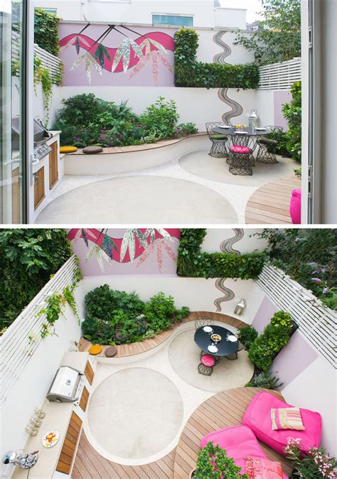 Backyard Landscaping Ideas   This small patio space is