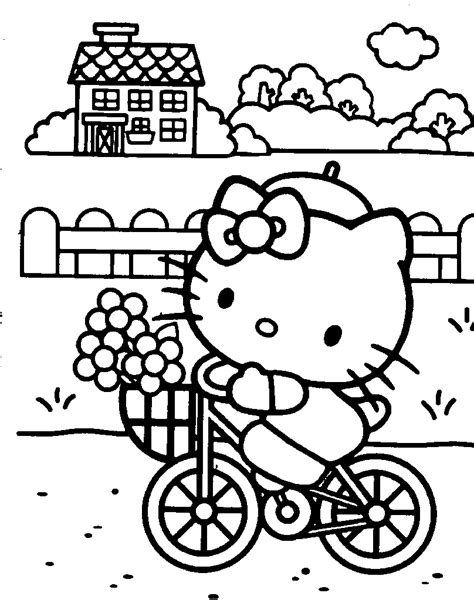coloring pages online of hello kitty hello kitty coloring pages