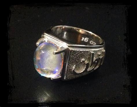 Cincin Titanium Silver Permata Pelangi cincin tunang anggunklasik