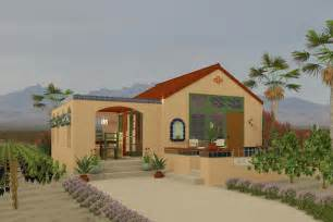 Adobe Home Plans Adobe Southwestern Style House Plan 1 Beds 1 00 Baths