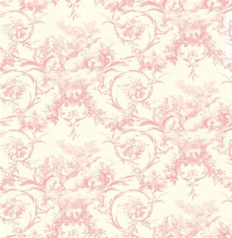 Paramount Home Decor Brewster Wallpaper Kennedy Pink Modern Toile Wallpaper