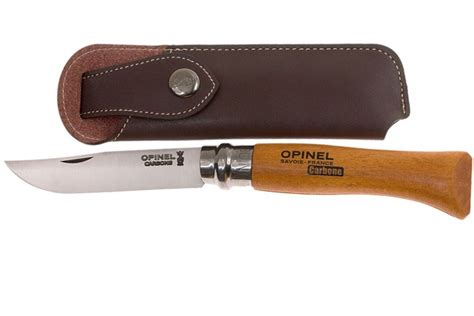 opinel kitchen knives uk 2018 opinel pocket knife no 8 luxury range with leather sheath carbon steel advantageously