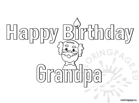 happy birthday grandpa coloring page coloring page