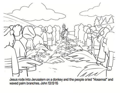 coloring page of jesus on palm sunday palm sunday coloring pages best coloring pages for kids