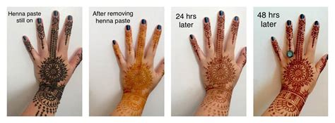 henna tattoo before and after henna before and after oxidation makedes