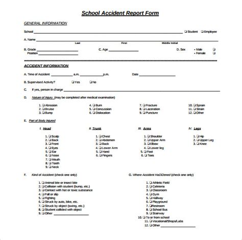 school incident report template word sle report 12 documents in word pdf