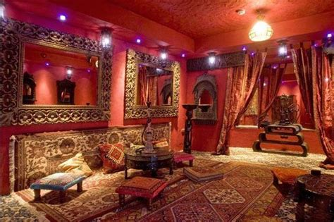 Modern Interior Design in Moroccan Style Blending Chic and Comfort with Rich Room Colors