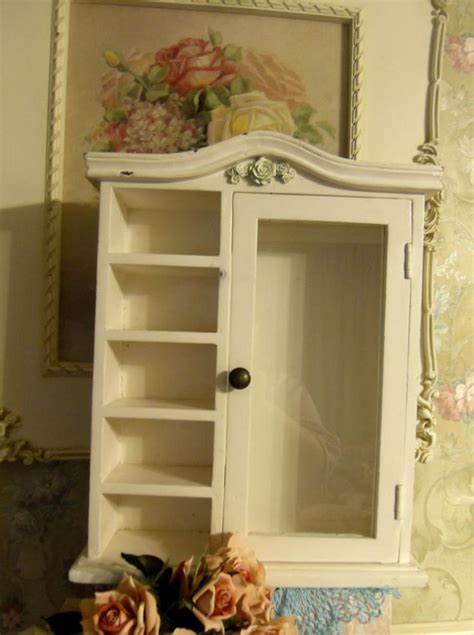 small wall mount curio cabinet w glass door 5 shelves