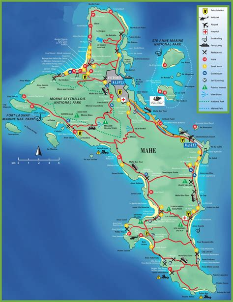 seychelles map mahe island map