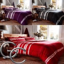 Dark Purple Duvet Cover Quot Omega Quot 100 Brushed Cotton Black Purple Amp Red Striped