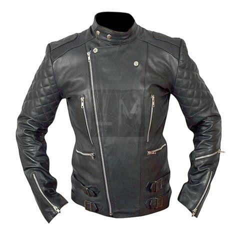 erkek motosiklet biker siyah hakiki deri ceket buy